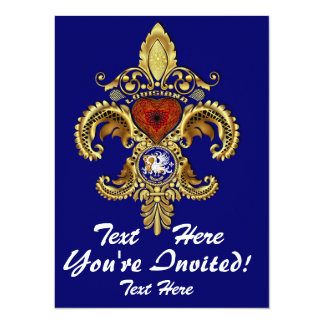 Louisiana Inivitations  Over 50 Colors 5.5x7.5 Paper Invitation Card