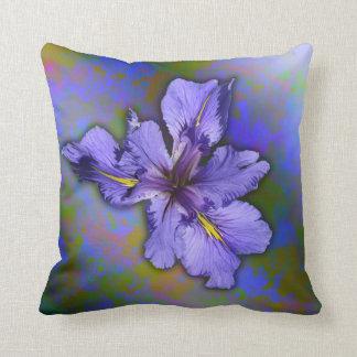 Louisiana Iris Throw Pillow