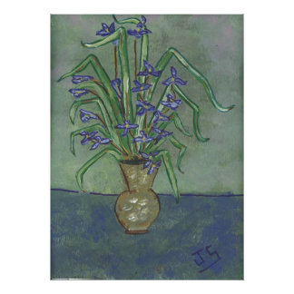 Louisiana Irises In A vase Poster
