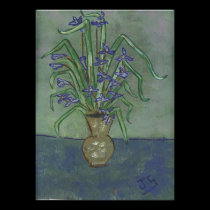 Louisiana Irises In A vase posters