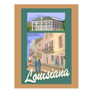 Louisiana Jazz Postcard