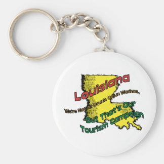 Louisiana LA US Motto ~ We're Not ALL Drunk Basic Round Button Keychain