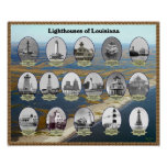 Louisiana Lighthouses Poster