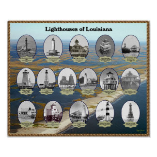 Louisiana Lighthouses Poster