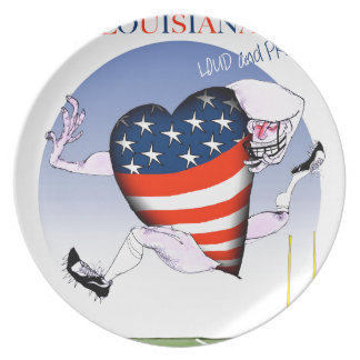 louisiana loud and proud, tony fernandes melamine plate