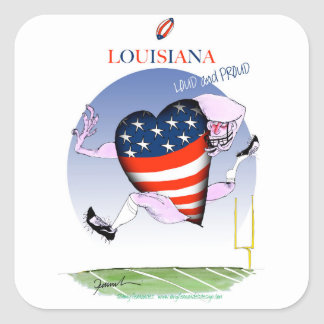 louisiana loud and proud, tony fernandes square sticker