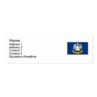 Louisiana Map and State Flag Business Card Templates
