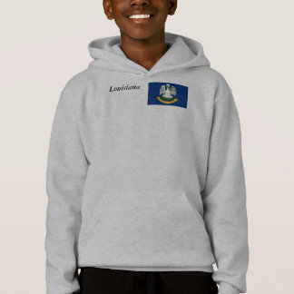 Louisiana Map and State Flag Hoodie