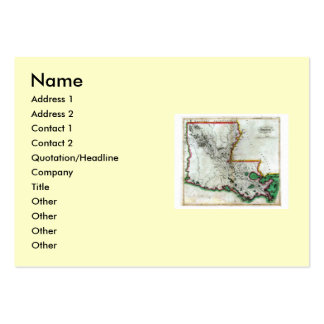 Louisiana Map and State Flag Large Business Cards (Pack Of 100)