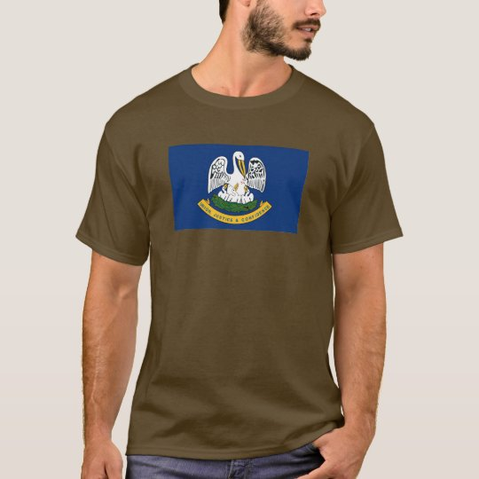 Louisiana Map and State Flag T-Shirt