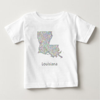 Louisiana map baby T-Shirt