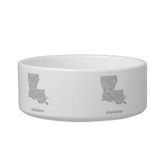 Louisiana map bowl
