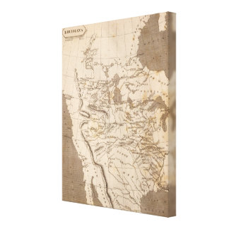 Louisiana Map by Arrowsmith Canvas Print