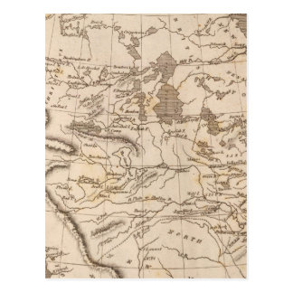 Louisiana Map by Arrowsmith Postcard