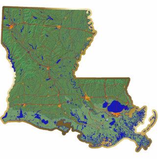 Louisiana Map Keychain Cut Out