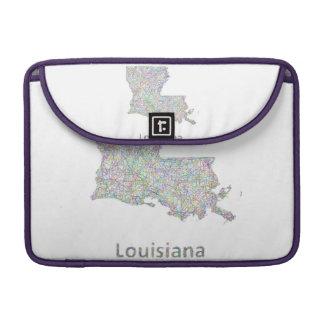 Louisiana map MacBook pro sleeve