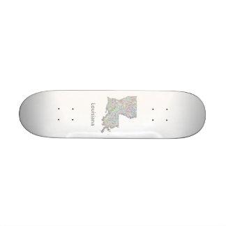 Louisiana map skate board deck