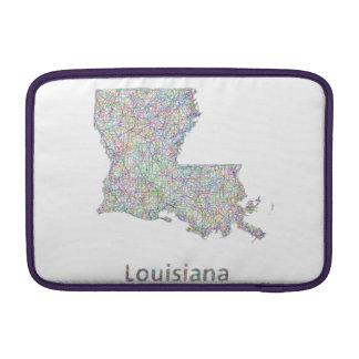 Louisiana map sleeve for MacBook air
