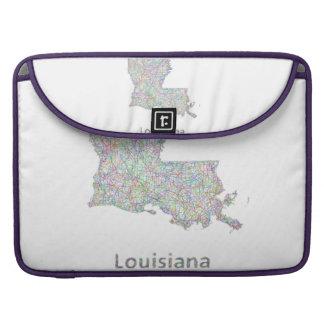 Louisiana map sleeve for MacBook pro