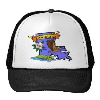 Louisiana Map Trucker Hat