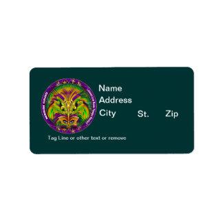 Louisiana Mardi Gras Party See Notes Custom Address Label