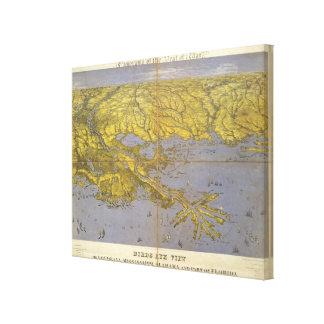 Louisiana, Mississippi, and Alabama Canvas Print