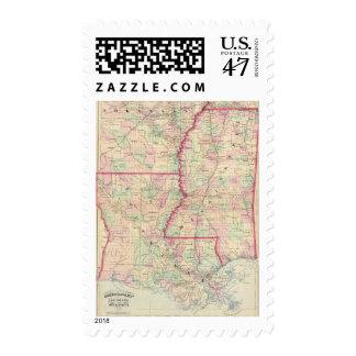 Louisiana, Mississippi Postage