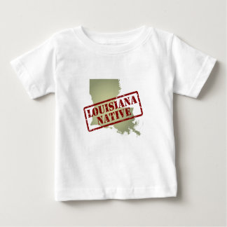 Louisiana Native Stamped on Map Baby T-Shirt
