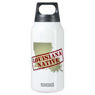 Louisiana Native Stamped on Map Insulated Water Bottle