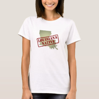 Louisiana Native Stamped on Map T-Shirt