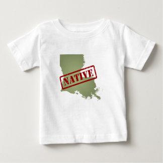 Louisiana Native with Louisiana Map Baby T-Shirt