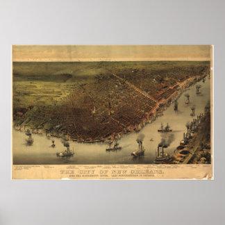 Louisiana New Orleans 1885 Print