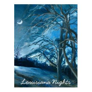 Louisiana Nights, Fine Art Postcard
