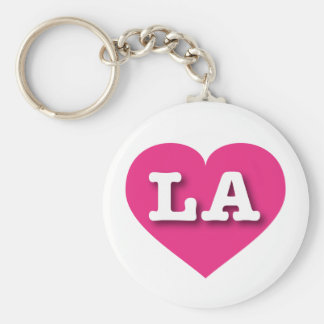 Louisiana or Los Angeles Hot Pink Heart - Big Love Keychain