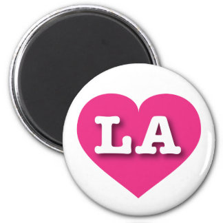 Louisiana or Los Angeles Hot Pink Heart - Big Love Magnet