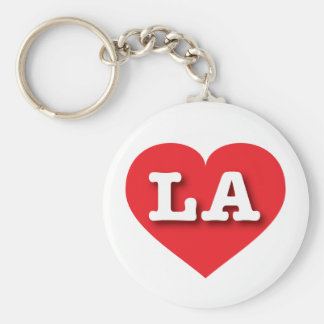 Louisiana or Los Angeles Red Heart - Big Love Keychain