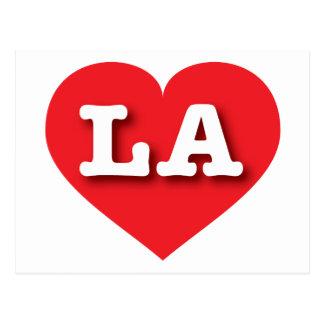 Louisiana or Los Angeles Red Heart - Big Love Postcard