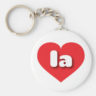 louisiana or los angeles red heart - mini love basic round button keychain