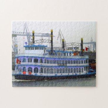 USA Themed Louisiana Paddle Boat. Jigsaw Puzzle