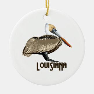 Louisiana Pelican Ceramic Ornament