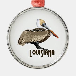 Louisiana Pelican Metal Ornament