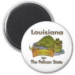 Louisiana Pelican State Aligator 2 Inch Round Magnet