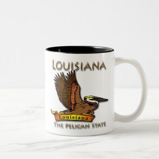 Louisiana Pelican State Pelican Two-Tone Coffee Mug