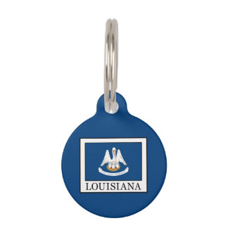 Louisiana Pet Name Tag