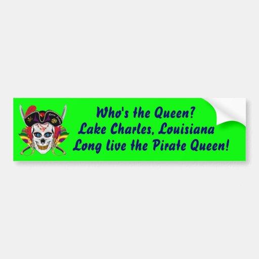 Louisiana Pirate Contraband Days 30 Colors Bumper Sticker