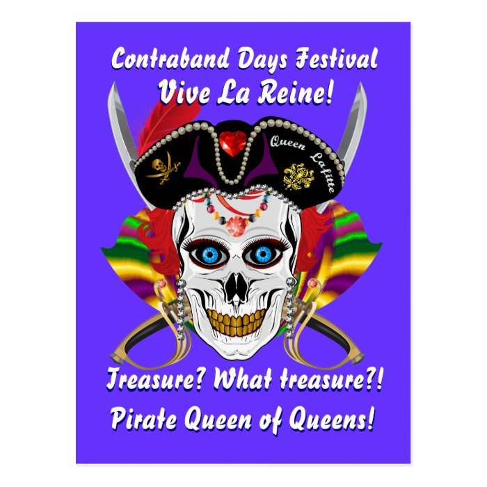 Louisiana Pirate Contraband Days 30 Colors Postcard