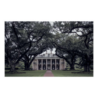LOUISIANA PLANTATION of the OLD SOUTH Poster