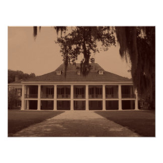 Louisiana Plantation Poster