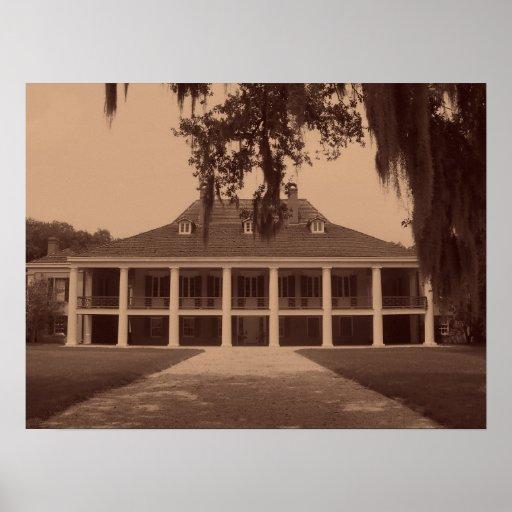 Louisiana Plantation Poster