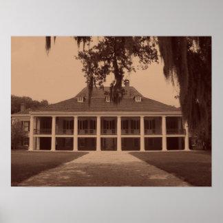 Louisiana Plantation Print